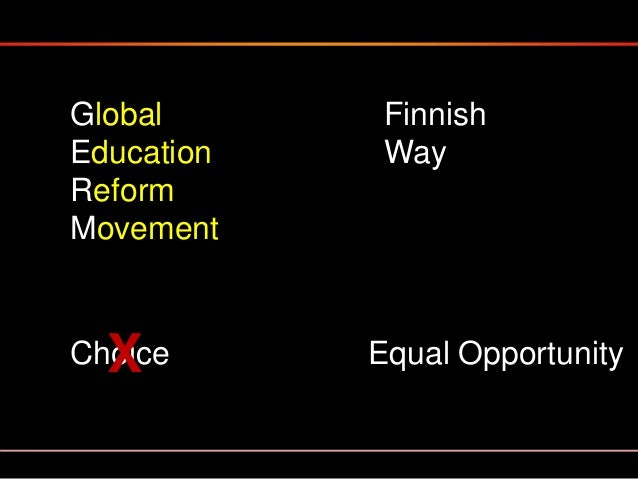 1 Excellence through Equality of educational opportunity