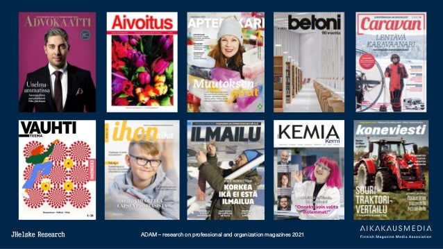 ADAM – research on professional and organization magazines 2021
