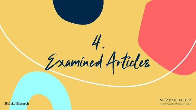 4. Examined Articles