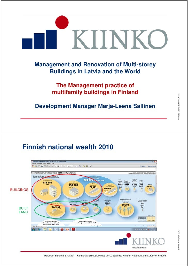 Management and Renovation of Multi-storey                Buildings in Latvia and the World                       g        ...
