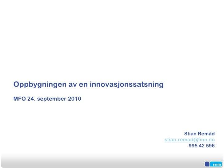 FINN.no og innovasjon - Frokostseminar 240910