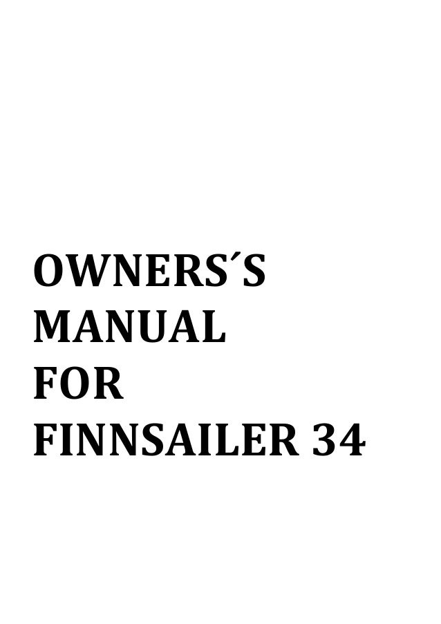Finnsailer 34 Owners Manual