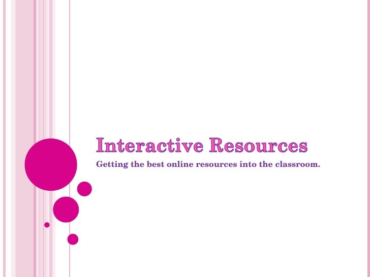 Getting the best online resources into the classroom.