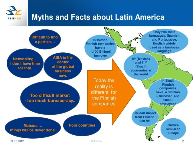 Myths and Facts about Latin America                                                                                 Only t...