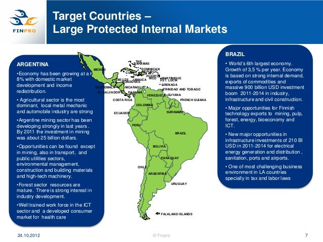 Target Countries –                Large Protected Internal Markets                                                        ...
