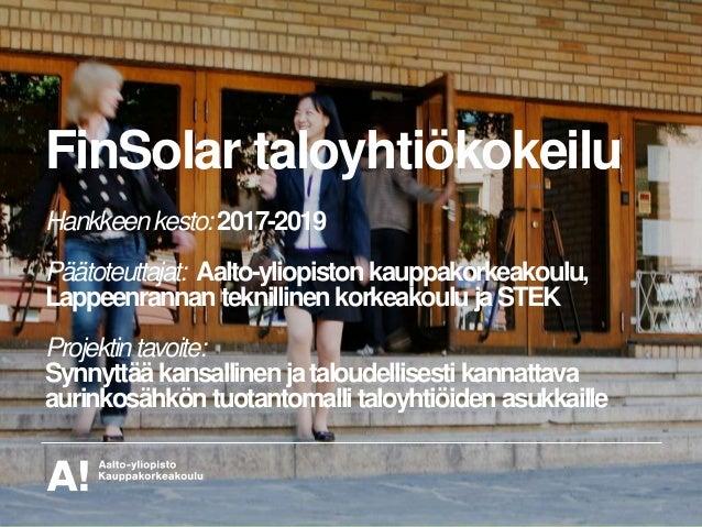 FinSolar taloyhtiökokeilu Slide 2