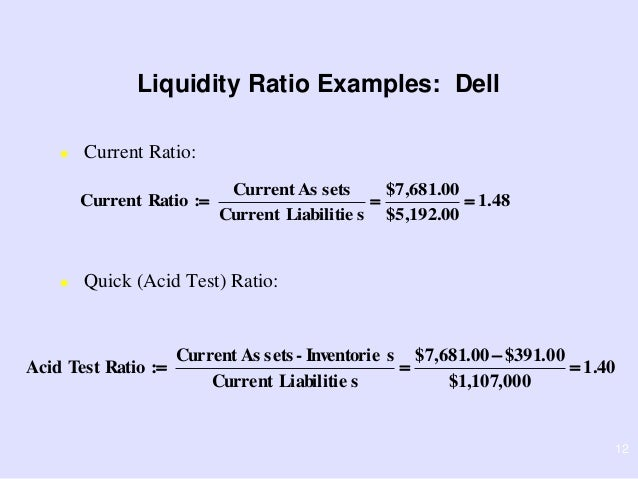 Liquidity assets examples.