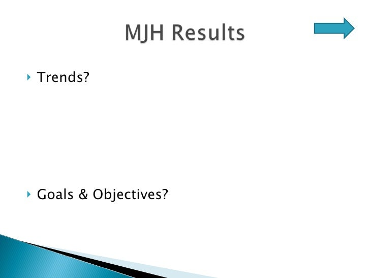 <ul><li>Trends? </li></ul><ul><li>Goals & Objectives? </li></ul>
