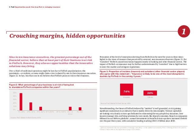 5 PwC Opportunities await: How InsurTech is reshaping insurance Crouching margins, hidden opportunities 1 Nine in ten insu...