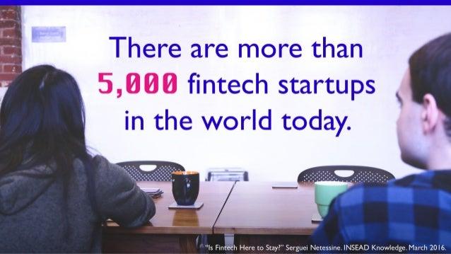 The Fintech Revolution Slide 3