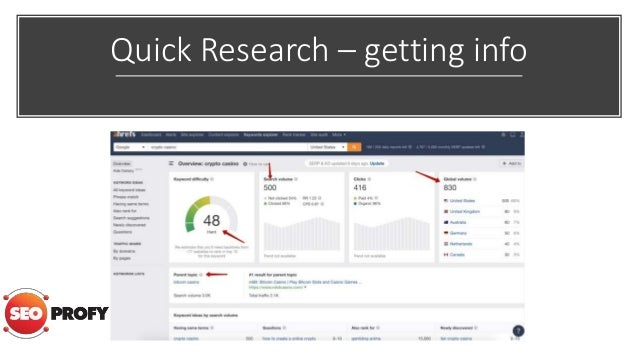 Quick Research – getting info