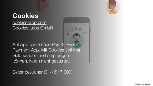 Cookies cookies-app.com Cookies Labs GmbH Auf App basierende Peer-2-Peer Payment App. Mit Cookies soll man Geld senden und...