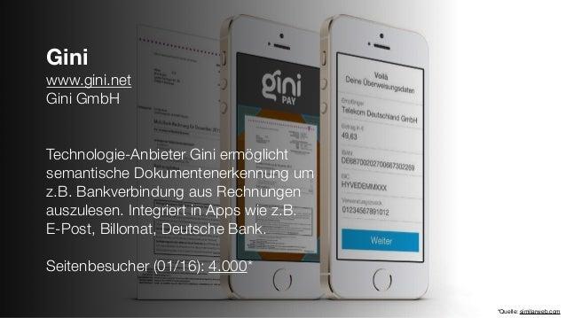 Gini www.gini.net Gini GmbH Technologie-Anbieter Gini ermöglicht semantische Dokumentenerkennung um z.B. Bankverbindung au...
