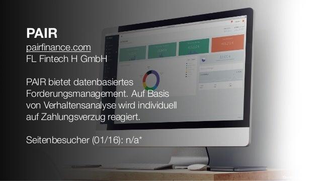PAIR pairfinance.com FL Fintech H GmbH PAIR bietet datenbasiertes Forderungsmanagement. Auf Basis von Verhaltensanalyse wir...