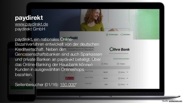 paydirekt www.paydirekt.de paydirekt GmbH paydirekt, ein nationales Online- Bezahlverfahren entwickelt von der deutschen K...