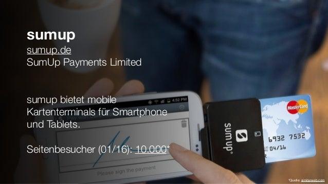 sumup sumup.de SumUp Payments Limited sumup bietet mobile Kartenterminals für Smartphone und Tablets. Seitenbesucher (01/1...