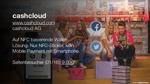 cashcloud www.cashcloud.com cashcloud AG Auf NFC basierende Wallet- Lösung. Nur NFC-Sticker, kein Mobile Payment mit Smart...