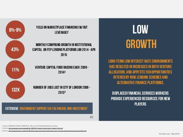 © Julian Levy - May 2016 Low Growth Long-term low interest rate environments has resulted in increases in both venture all...