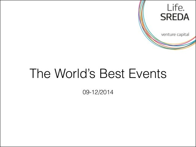 The World's Best Events  09-12/2014