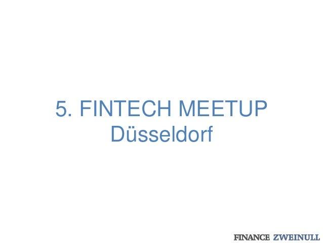 5. FINTECH MEETUP Düsseldorf