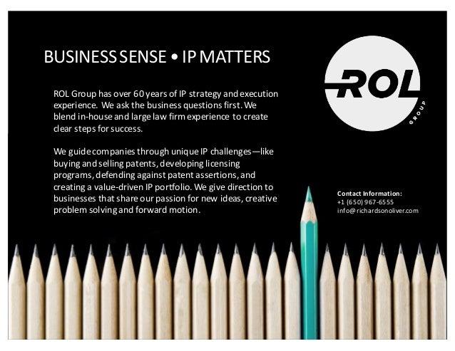 Business  Sense  • IP  Matters Attorney-‐Client  Privileged  &  Confidential 29 BUSINESS  SENSE  •  IP...