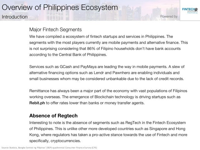 Fintech Philippines Startup Report 2017