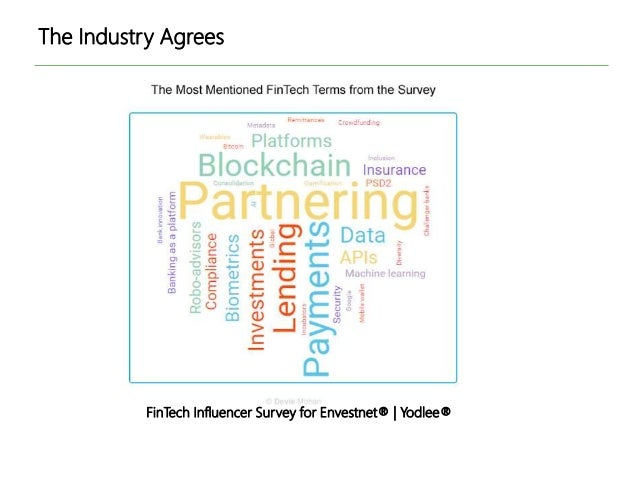 The Industry Agrees FinTech Influencer Survey for Envestnet® | Yodlee®