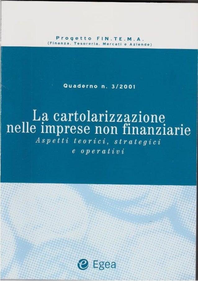 La cartolarizzazione nelle imprese non finanziarie