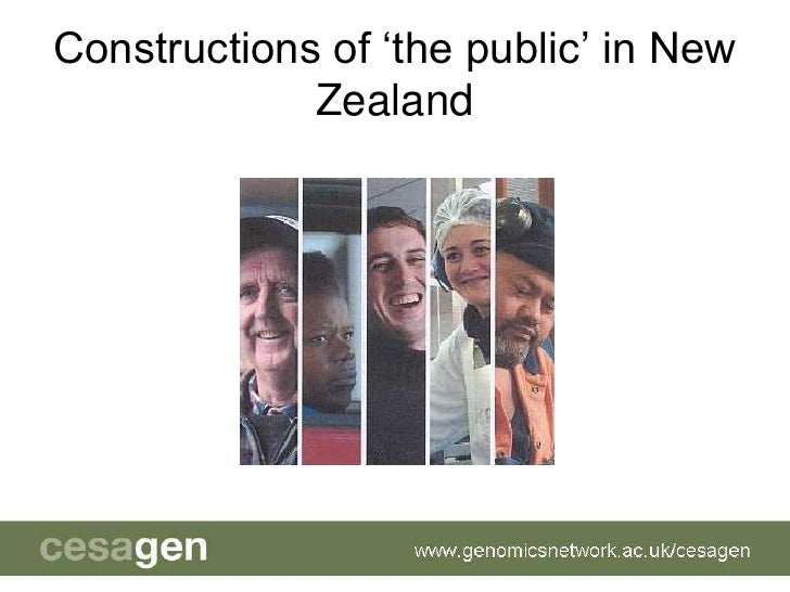 Constructions of 'the public' in New Zealand <br />