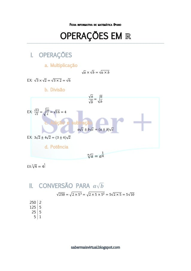 Ficha informativa_ Operações em R