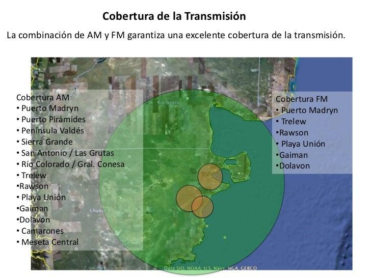 Cobertura de la TransmisiónLa combinación de AM y FM garantiza una excelente cobertura de la transmisión.  Cobertura AM   ...