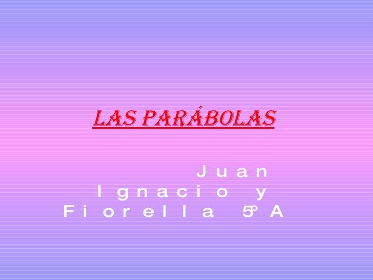 Las parábolas   Juan Ignacio y Fiorella 5ºA