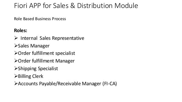 Fiori app for sales distribution module