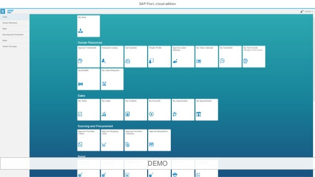SAP Fiori Cloud Service webinar - June 10, 2016