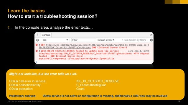 Fiori for s4 hana troubleshooting tips and tricks