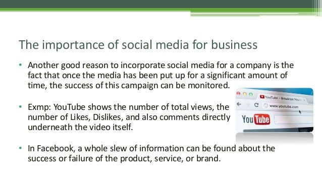 the significant role of social media in business today She believes social media played an important role in the success of her business communication plan  the role of social media in business communication related study  due today: starting .
