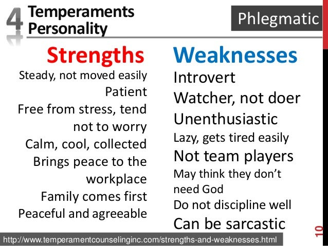 Phlegmatic personality strengths and weaknesses