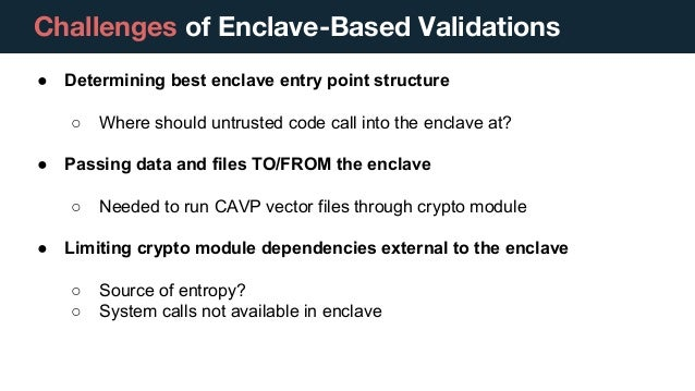 FIPS 140-2 Validations in a Secure Enclave