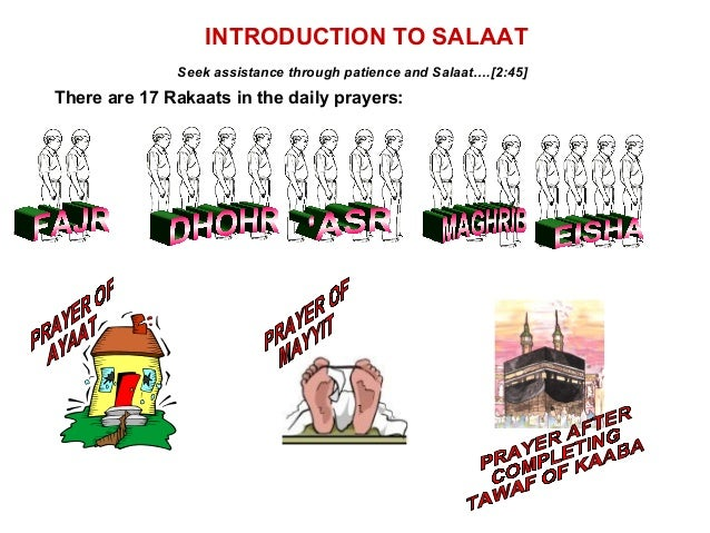 INTRODUCTION TO SALAAT Seek assistance through patience and Salaat….[2:45] There are 17 Rakaats in the daily prayers: