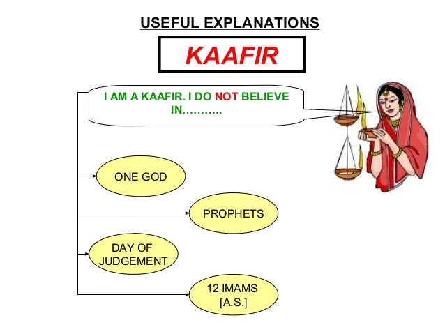 USEFUL EXPLANATIONS KAAFIR ONE GOD PROPHETS DAY OF JUDGEMENT 12 IMAMS [A.S.] I AM A KAAFIR. I DO NOT BELIEVE IN………..