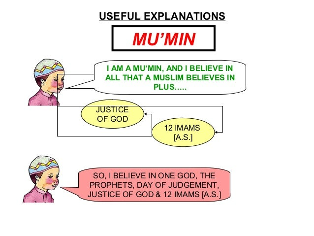 USEFUL EXPLANATIONS MU'MIN I AM A MU'MIN, AND I BELIEVE IN ALL THAT A MUSLIM BELIEVES IN PLUS….. JUSTICE OF GOD 12 IMAMS [...
