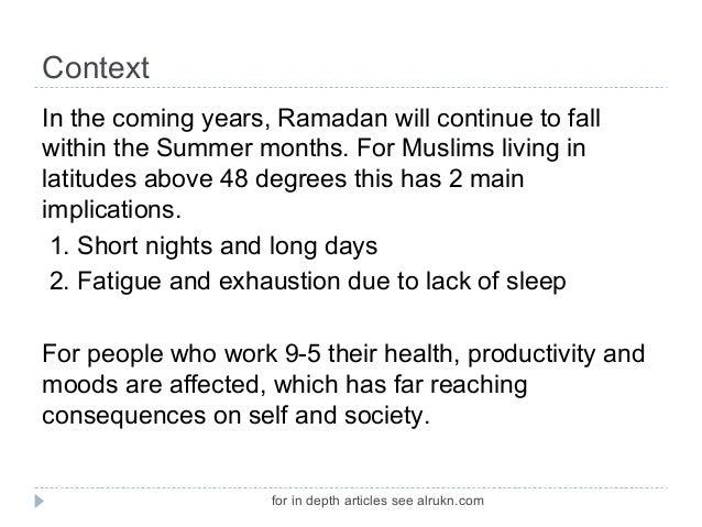 Fiqh of Long Fasts Ramadan
