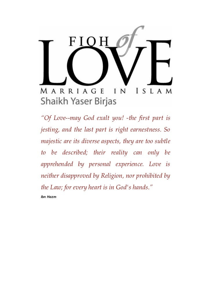fiqh of marriage in islam