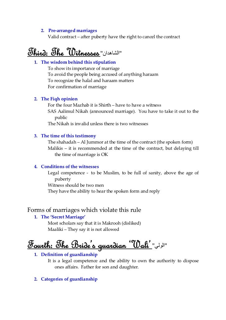 Fiqh Of Love Marriage In Islam