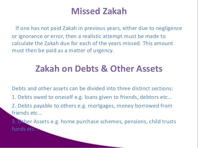 Missed Zakah If one has not paid Zakah in previous years, either due to negligence or ignorance or error, then a realistic...