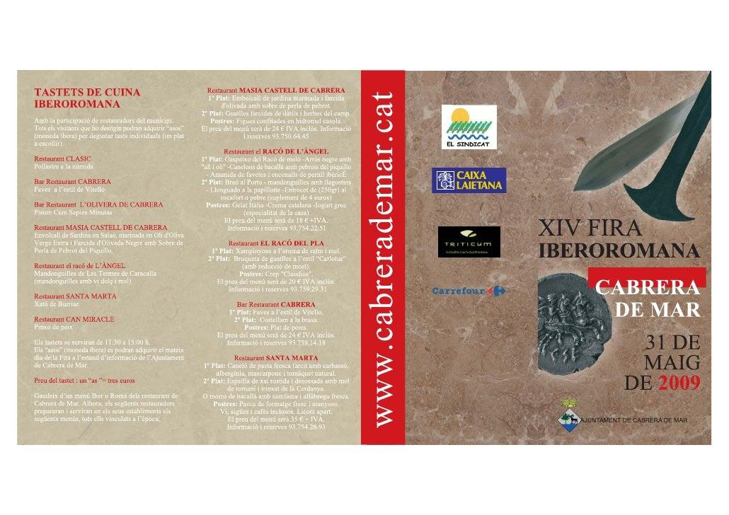 Fira iberoromana de Cabrera 2009