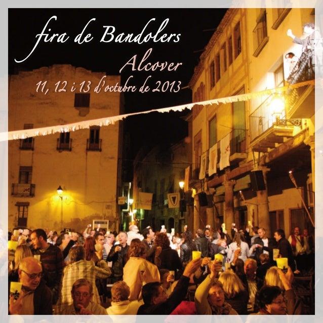 fira de Bandolers Alcover 11, 12 i 13 d'octubre de 2013