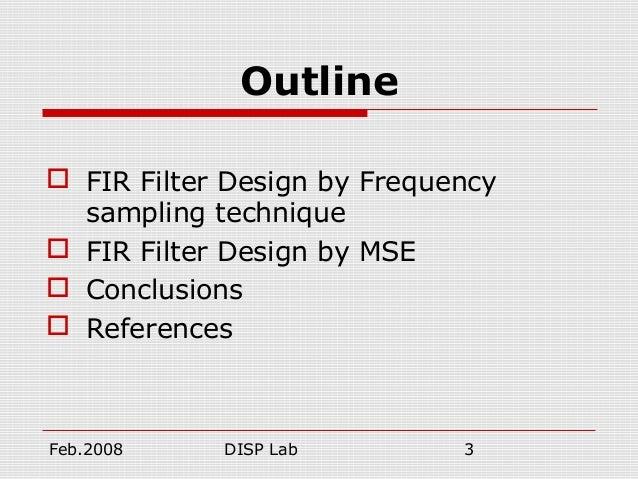 fir and iir filter design pdf