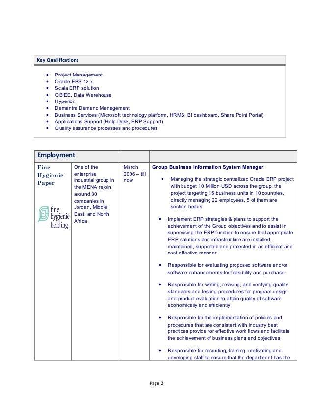 implementation of software resume