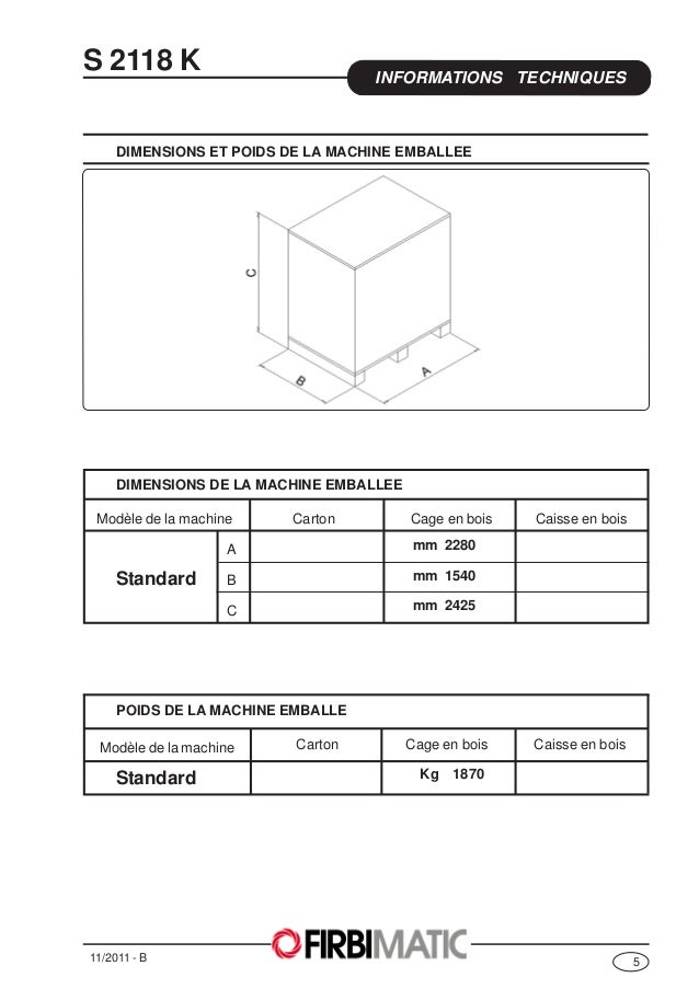 machine laver professionnelle firbimatic fiche technique s2118 k4. Black Bedroom Furniture Sets. Home Design Ideas